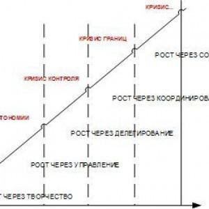 жизненный цикл организации в представлении грейнера