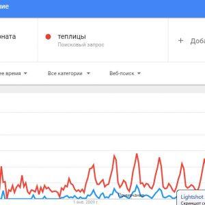 Рис. Колебания интереса к теме с 2004 года по настоящее время в ПС Гугл.